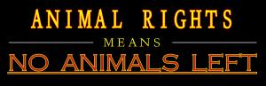 no animals left bumper sticker copy